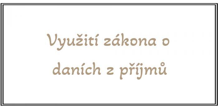Roman Křížek - Finanční poradce - Využití zákona o daních z příjmů